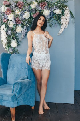 Lacy pajama (top and shorts)